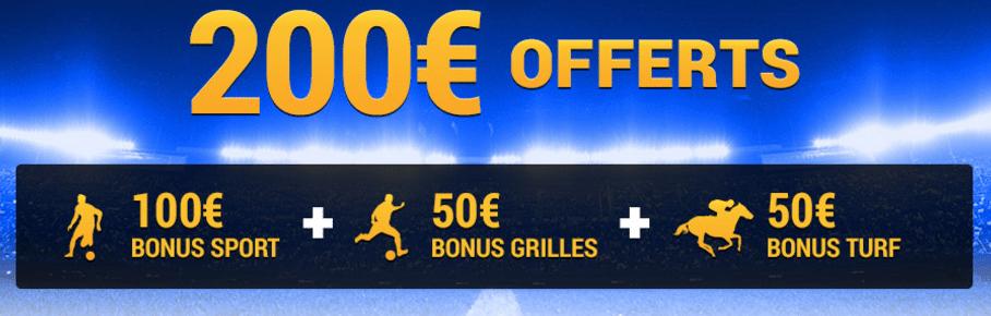 200 euros offerts sur france pari